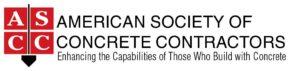 American Society of Concrete Contractors Logo