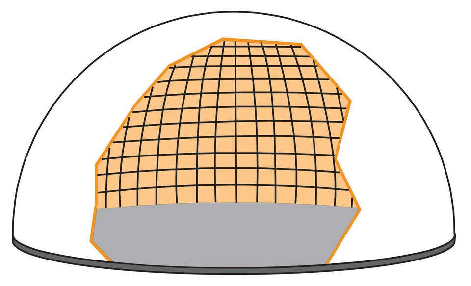 KingDome Construction Process Step 4 - adding rebar to foam