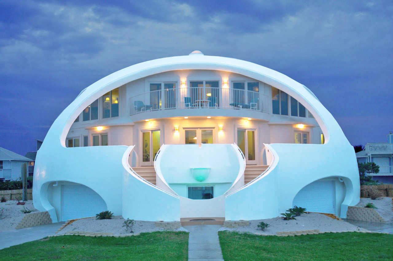 A beautiful concrete dome home